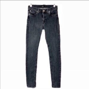 Hudson Nico Midrise Charcoal Super Skinny Jeans